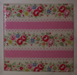 Ceramic Wall Tiles Made With Cath Kidston Lace Stripe Pink